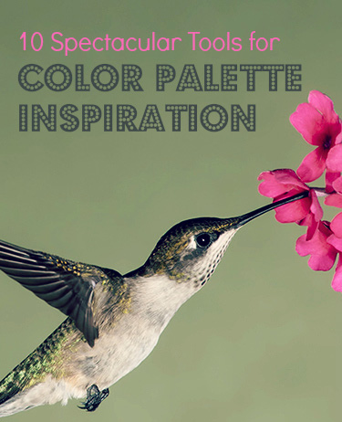 10 Spectacular Tools for Color Palette Inspiration from http://www.DesignYourOwnBlog.com.