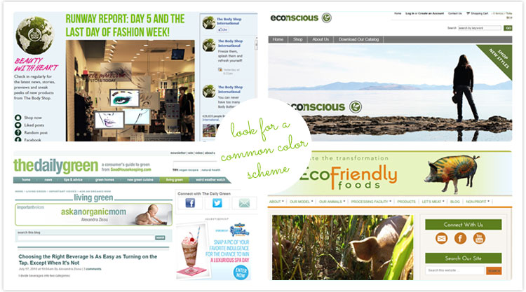Look for Common Color Schemes in Your Niche - Choosing Colors for Your Blog at DesignYourOwnBlog.com