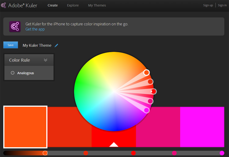 Adobe Kuler Color Palette Tool